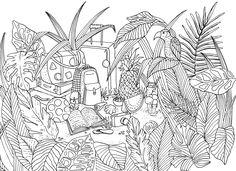 coloring book haliday illustration