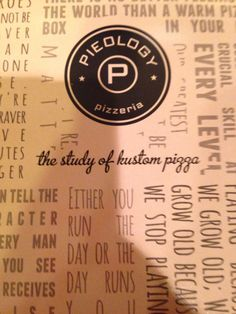 Pieology pizza.
