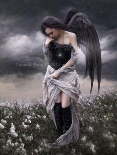 When an Angel Falls... by =Aeternum-Art on deviantART