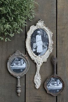 Hand Mirror Photo Frames - farmhouse - frames - other metro - A Cottage in the City