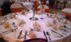 Table setting, wedding Oct 2012