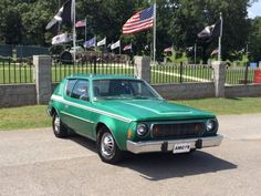 1974 AMC Green Gremlin Ok AMC fans I'm selling 2 cars out of my collection so someone else can enjoy these beautiful American Motors Classics. The cars Hudson Car, Amc Gremlin, Jeep Models, American Motors, Motor Company, Gremlins, All Cars, Car Pictures, Photos