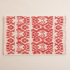 In an eclectic ikat striped pattern, our tonal bath mat gives your toes the spa treatment they deserve.