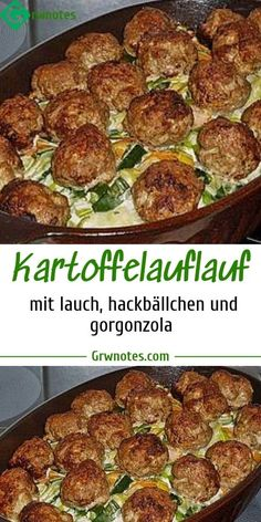 Ingredients: 800 g potato (s) 500 g leek 125 g carrot (s) 300 g minced meat 1 … - Fleisch Low Carb Recipes, Healthy Recipes, Mince Meat, Cereal Recipes, Vegetable Dishes, Food Design, Love Food, Carrots, Easy Meals