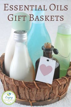 See how easy it is to make your own essential oils gift baskets for holidays gifts. Show how much you care with one of a kind gift baskets you make yourself.