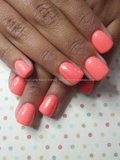 Ibd gel polish with glitter ring fingers
