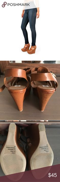 727ef67624 Last pair! Steve madden cognac wedges! New. Store display pair! Steve Madden