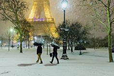 Snowy day  Benoit Rousseau - Street Photography