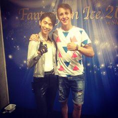 With Olympic champion and just a nice guy #fantasyonice #foi #japan #2015 #yuzuruhanyu