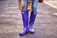 Purple Hunter Boots. Gimme gimme!!