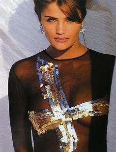 "Helena Christensen- ""Some Enchanted Evenings,"" Elle US, December 1992. Photographer: Gilles Bensimon"