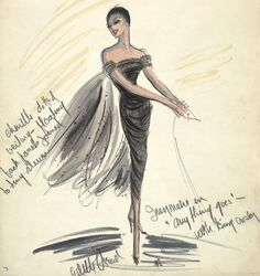 "Edith Head costume sketch for ""Anything Goes"""