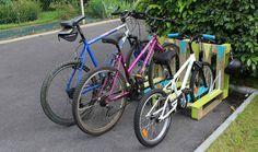 TUTORIEL - Avec une seule palette, vous pouvez confectionner un rack à vélos extérieur très pratique.