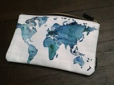 You are the World - World Map Carry All Pouch - Medium by MoonDaughterArt on Etsy