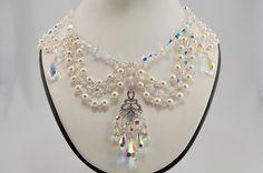Swarovski Crystal Chandelier Necklace. $100.00, via Etsy.