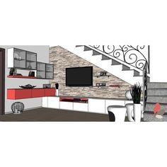 Arredare il sottoscala aperto del soggiorno 17762 - ARREDACLICK