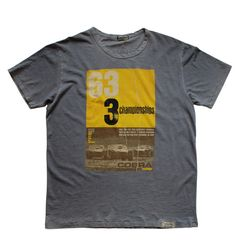 Wicked Quick CSMV '63 Championship Carroll Shelby, Basic Outfits, Wicked, Shorts, Tees, Modern, Mens Tops, T Shirt, Clothes