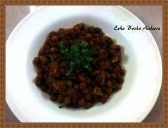Chole Masala | Spicy Bengal Gram ~ Esho Bosho Aahare