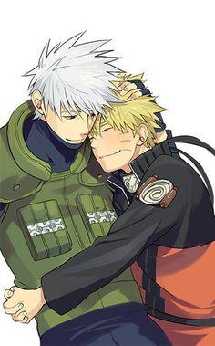 Kakashi sensei and Naruto kun
