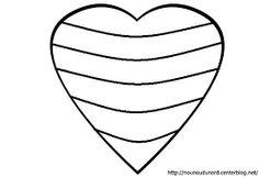 """Résultat de recherche d'images pour """"coloriage de coeur"""""""