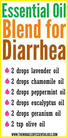 DIY Essential Oil Blend for Diarrhea
