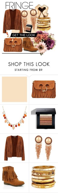 """""""Brown"""" by godstash ❤ liked on Polyvore featuring J.W. Anderson, Bobbi Brown Cosmetics, Sandro, Lady Godiva and Ashley Pittman"""
