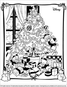 Christmas Disney Coloring Page
