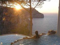 spa sunset on the island of Ibiza, Spain  ahhhh...