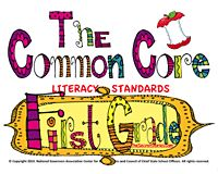 Download your FREE set of Common Core Literacy Posters for First Grade at www.TheSecretStories.com!