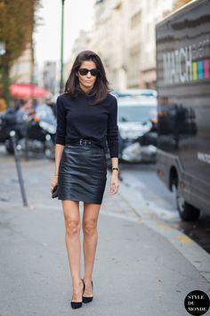 #BarbaraMartelo before Giambattista Valli at Paris FW SS15 - by STYLEDUMONDE