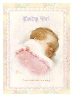 Baby Girl -  In Slumberland  by Bessie Pease Gutmann