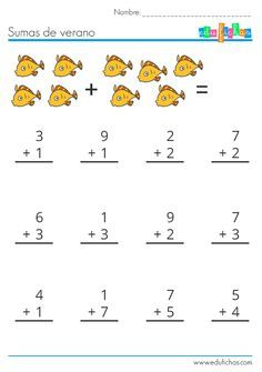 Addition And Subtraction Practice, Addition Worksheets, English Worksheets For Kids, Kids Math Worksheets, Math Help, Fun Math, French Alphabet, Math Sheets, Numbers Preschool