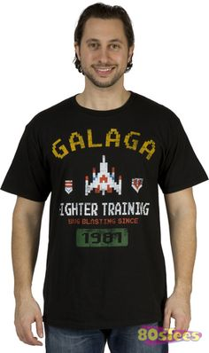 This Galaga Shirt show that you attended and completed the necessary Fighter Training to be a Galaga Master!