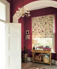 Country Elegance / A/W 2014 / Laura Ashley / Home Collection.I tried this colour in my hall but I don't have a window so it was a bit dark for my flat. That said, I love the styling so I've nabbed that! Bedroom Wallpaper Red, Laura Ashley Home, Summer Palace, Red Cottage, Cottage Interiors, Childrens Room Decor, Home And Deco, Colour Schemes, Home Collections