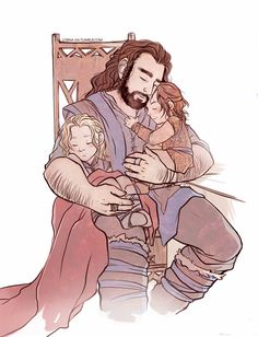 The Heirs of Durin. I can NOT get enough of the Fili, Kili, and Uncle Thorin fanart. It's just so cute!