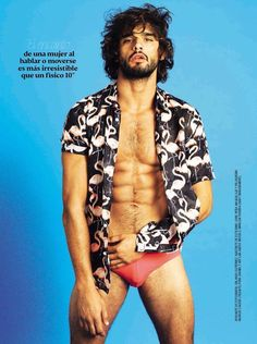 Marlon Teixeira Rocks Tropical Prints for Glamour Spain Shoot