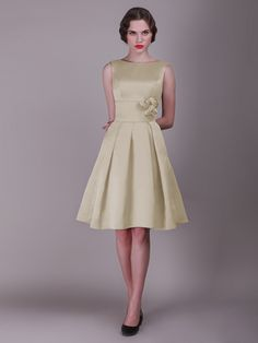 Pin to Win a Wedding Gown or 5 Bridesmaid Dresses! Simply pin your favorite dresses on www.forherandforhim.com to join the contest! | Pleated Skirted dress with Rose Details £91.70
