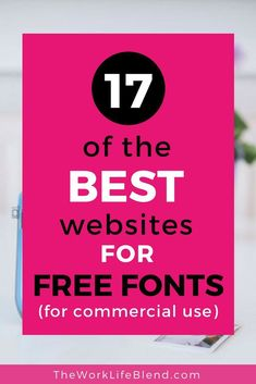 An AWESOME list of 17 websites offering free fonts to download for commercial use. There's also helpful advice on finding the perfect font pairing to create a killer brand.