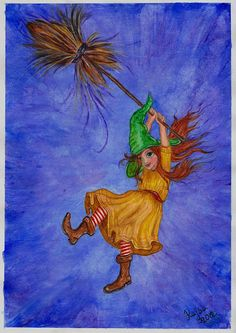 Title: Witch Falling off Broom  Created year: 2012  Technique: Acrylics — in Leibnitz, Steiermark.