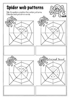 These 3 worksheets can be used to practice counting and number patterns. Students complete the number patterns and then describe the pattern in wor. Kindergarten Math, School Classroom, Teaching Math, Teaching Ideas, Math Patterns, Number Patterns, Math Numbers, Number Puzzles