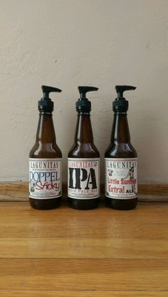 Lagunitas Craft Beer Soap Dispenser by PremierPumps on Etsy Beer Bottle Crafts, Beer Crafts, Craft Beer Gifts, Craft Beer Shop, Craft Bier, Beer Kitchen, Beer Decorations, Beer Soap, Brew Pub