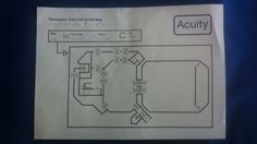 One off event tactile map on Swell Paper. Easy conversion of standard map with added Braille & symbols.