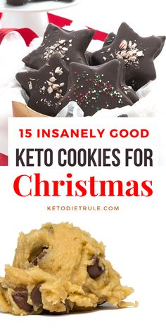 holiday cookies 15 insanely good Keto Christmas cookie recipes to enjoy this holiday season. These keto holiday cookies are so delicious even Santa would go for the second! Make these Santa-approved holiday keto cookies this Xmas! Healthy Low Carb Recipes, Low Carb Desserts, Ketogenic Recipes, Keto Recipes, Ketogenic Diet, Healthy Food, Protein Recipes, Recipes Dinner, Breakfast Recipes