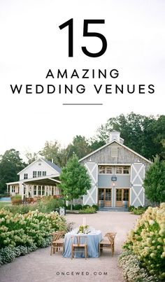 How to Find Your Dream Wedding Venue + 15 Amazing Venues Not To Miss Fresco, Outdoor Wedding Inspiration, Wedding Ideas, Wedding Decor, Wedding Pictures, Festa Party, Farm Wedding, Garden Wedding, Wedding Barns