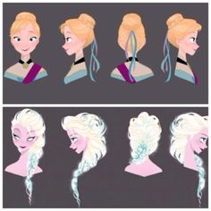 Frozen hairstyles.