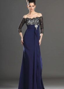 004d5ad2558 image - Glamorous   Dramatic Low Waistline Chiffon Cincture Length Sleeves  Mother of the Bride Dress