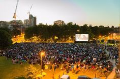 Free outdoor film screening at Vauxhall Pleasure Gardens in July 2015