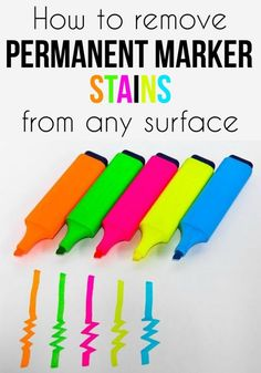 Learn how to remove permanent marker stains from any surface.