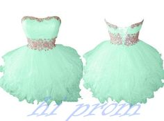 Mint Homecoming Dress,Tulle Homecoming Dresses,Cheap Homecoming Gowns,Strapless Prom Dress,Short Prom Dresses,Sweet 16 Dress,Simple Homecoming Dresses For Teens