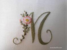 Alfabeto con margherite by Lavandaelilla on Etsy